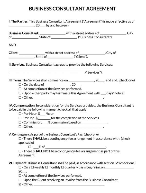 Business-Consultant-Agreement