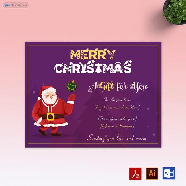 Santa Claus Gift Certificate Template