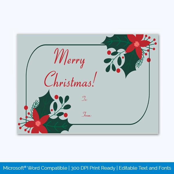Editable Christmas Gift Tag