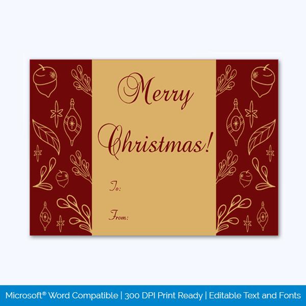 Editable Christmas Gift Tag Sample