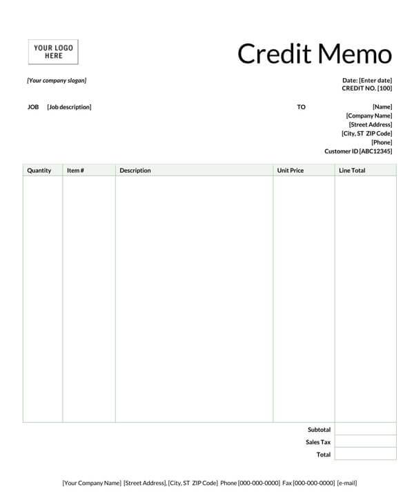 Credit-memo-Template-0