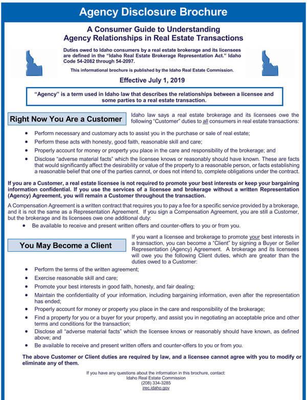Idaho-Agency-Disclosure-Brochure