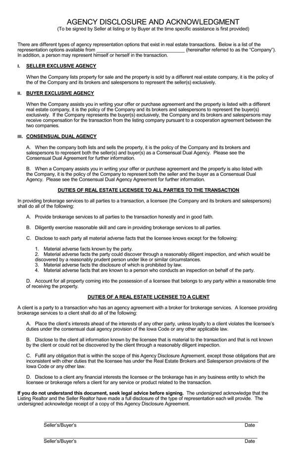 Iowa-Agency-Disclosure-and-Acknowledgement