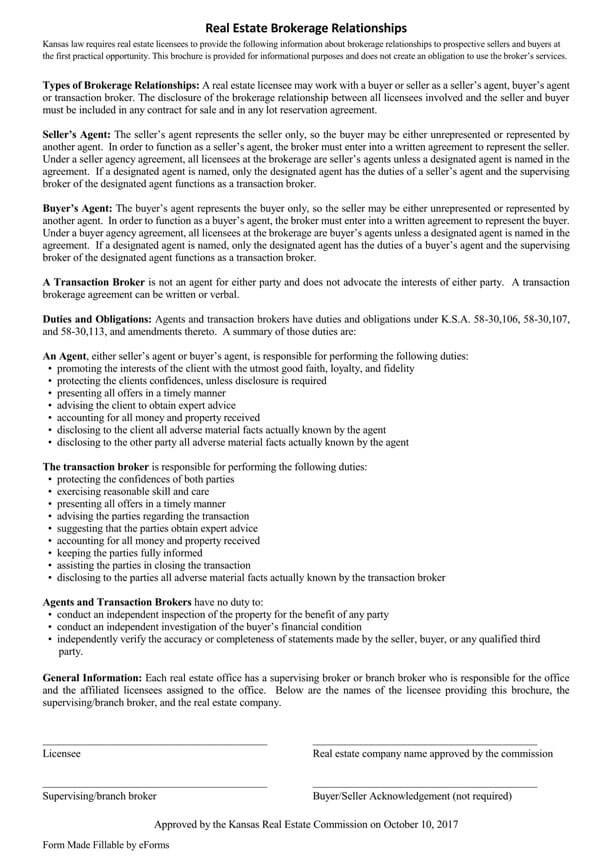 Kansas-Real-Estate-Brokerage-Relationships-Disclosure