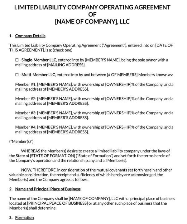 LLC-Operating-Agreement-Template