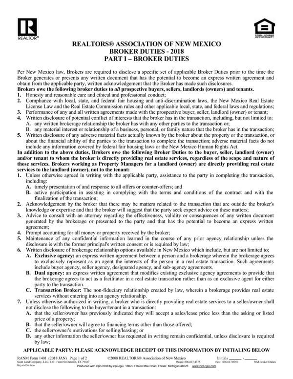 New-Mexico-Agency-Disclosure-Form