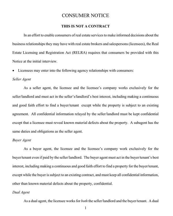 Pennsylvania-Agency-Disclosure-Form
