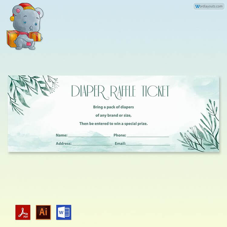 Printable Diaper Raffle Ticket