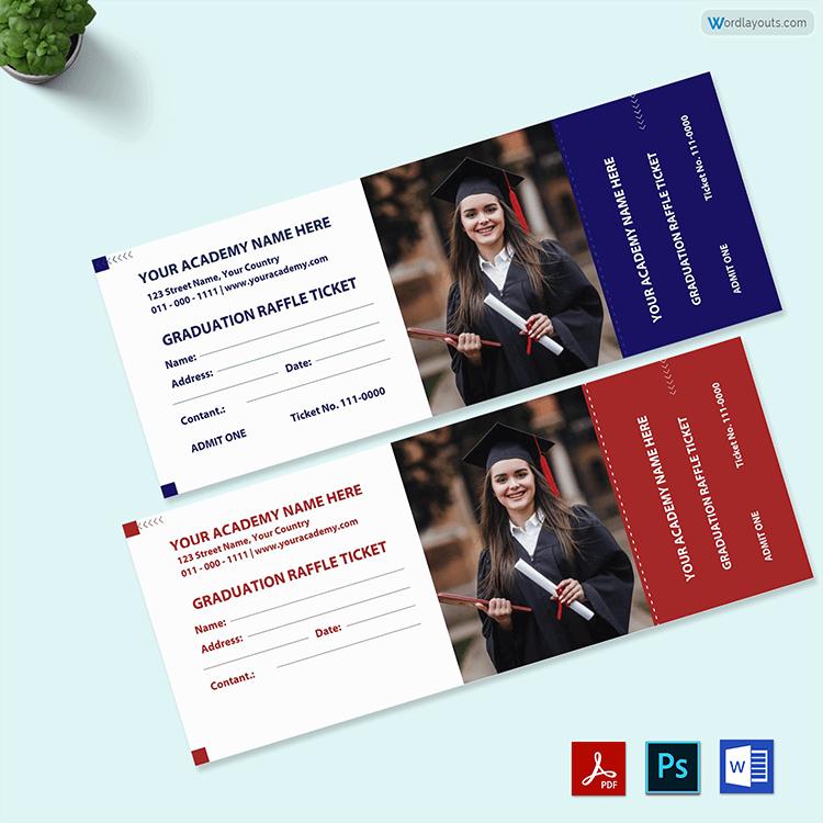 Graduation Raffle Ticket Sample