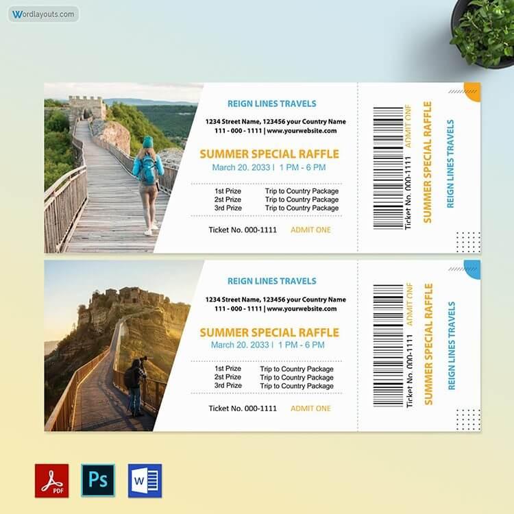 Free Tour Raffle Ticket