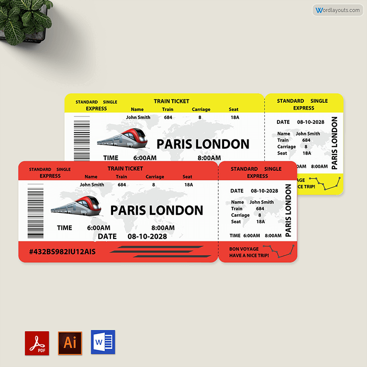 Train Ticket Template Free