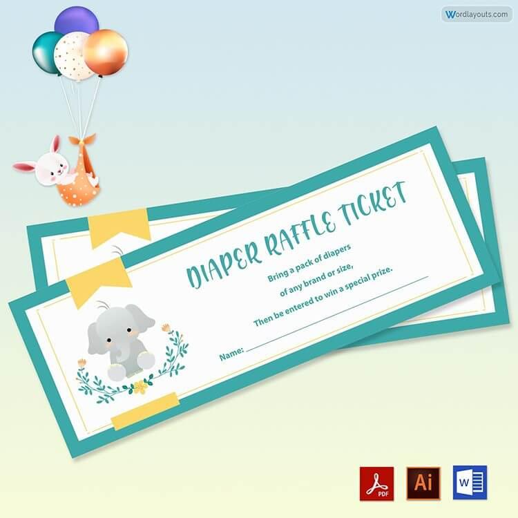 Editable Raffle Ticket Sample Free