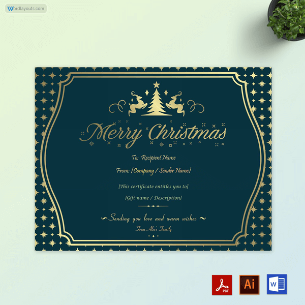 Vintage Christmas Gift Certificate