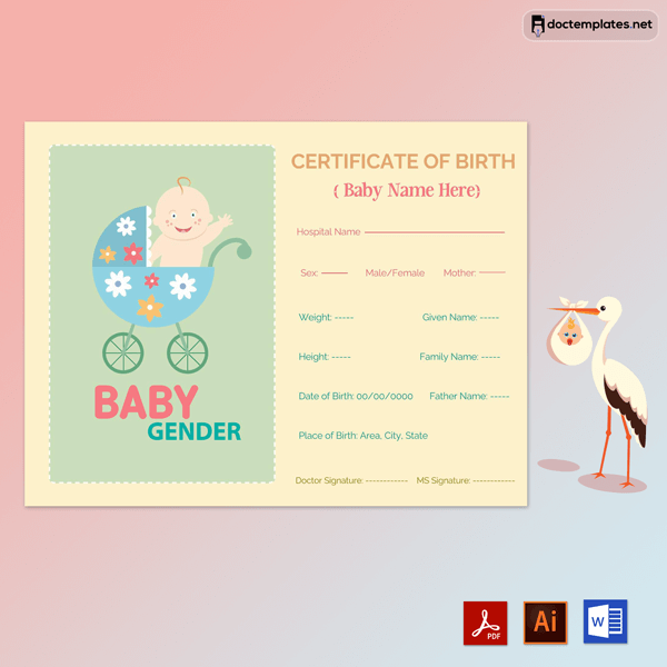 Birth Certificate for Boys