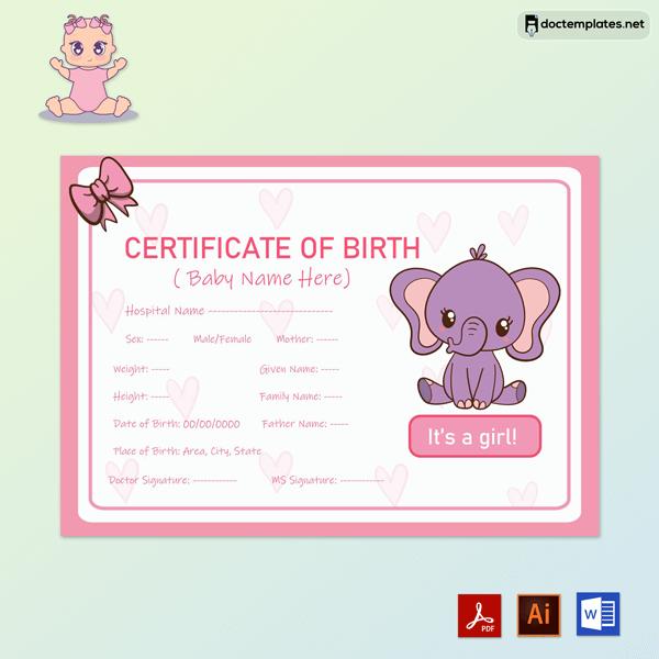 Baby Girl Birth Certificate