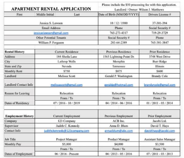Apartment-Rental-Application