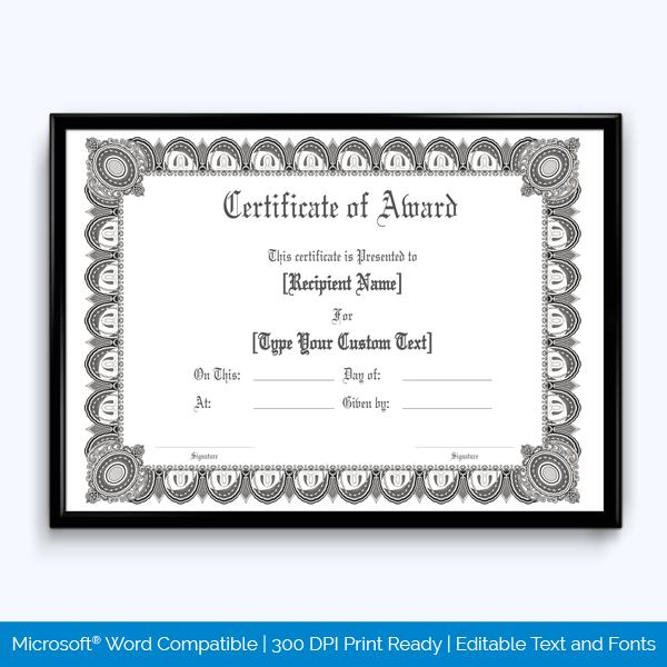 Print Free Award Certificate