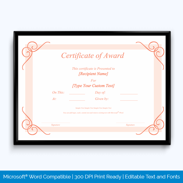 Recognition Award Certificate Free