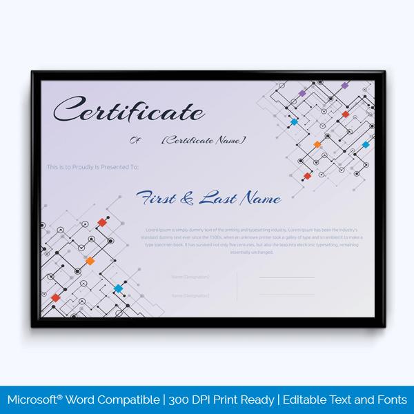 Free Printable Award Certificate Sample