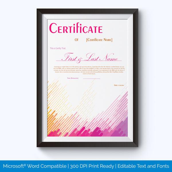 Best Performance Award Certificate