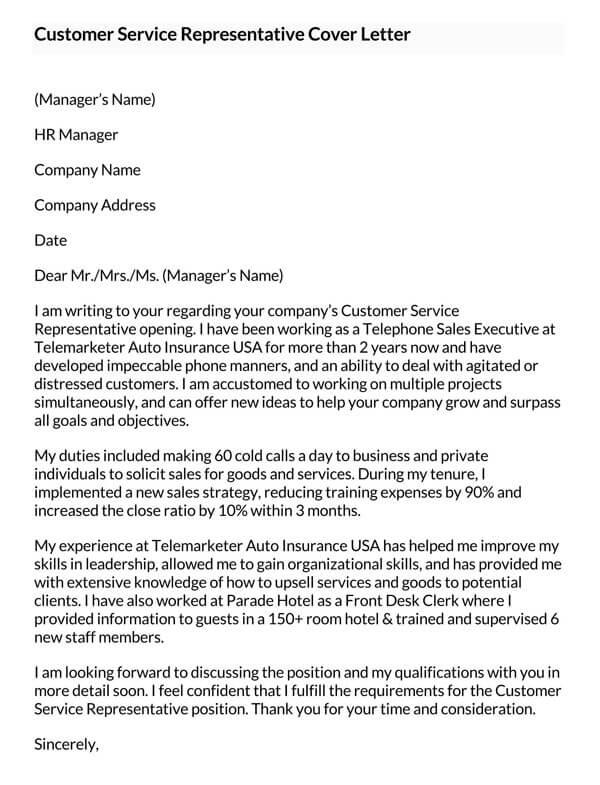 Customer-Service-Representative-Cover-Letter