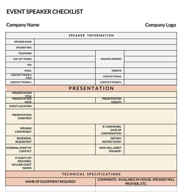 Event-Speaker-Checklist-Template