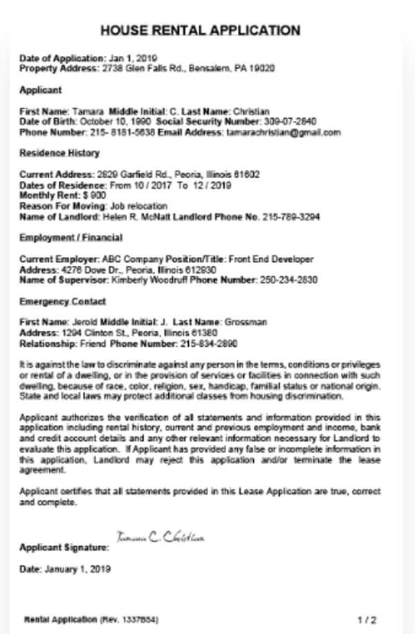 House-Rental-Application