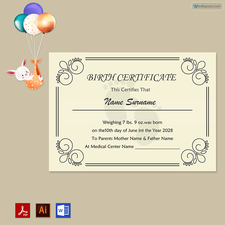 Birth Certificate Printable