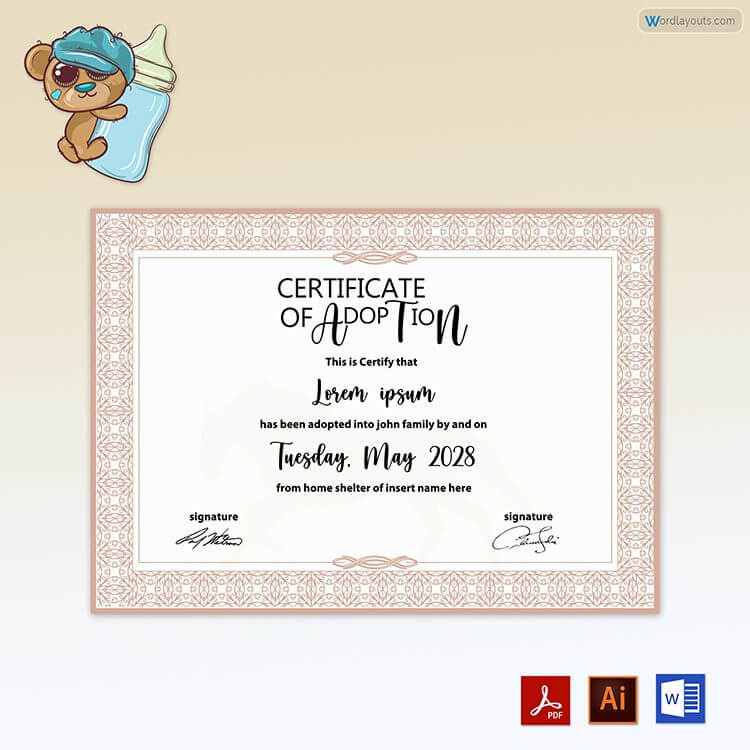Adoption Certificate Free