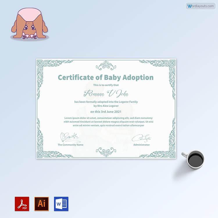 Printable Baby Adoption Sample