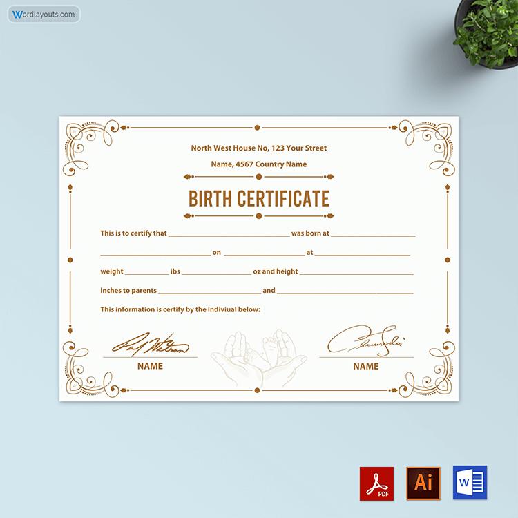 Birth Certificate Free in Doc