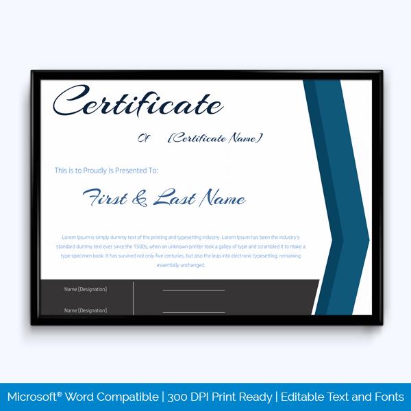 Best Achievement Award Certificate