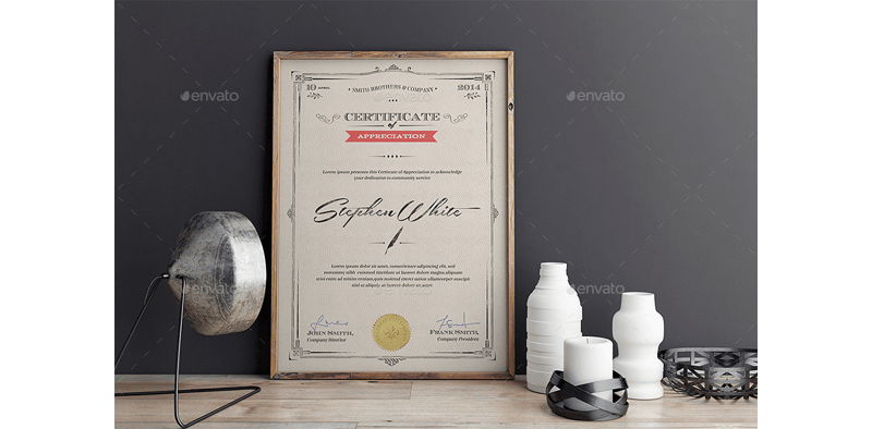 Extended Award Certificate Template