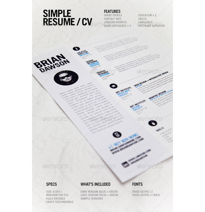 CV Examples for Architecture Job 08