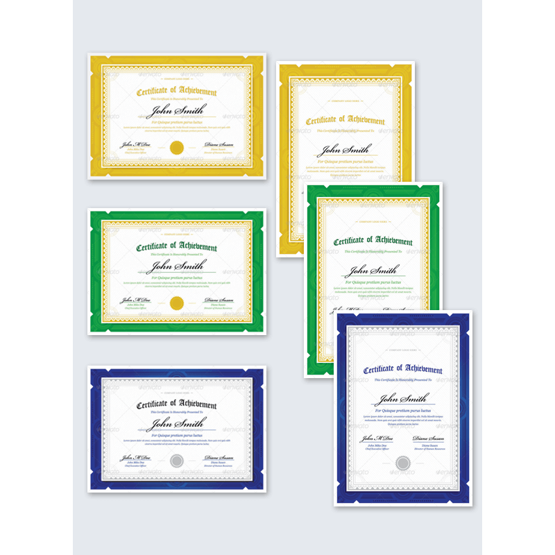 6-in-1 Simple Award Certificate Template