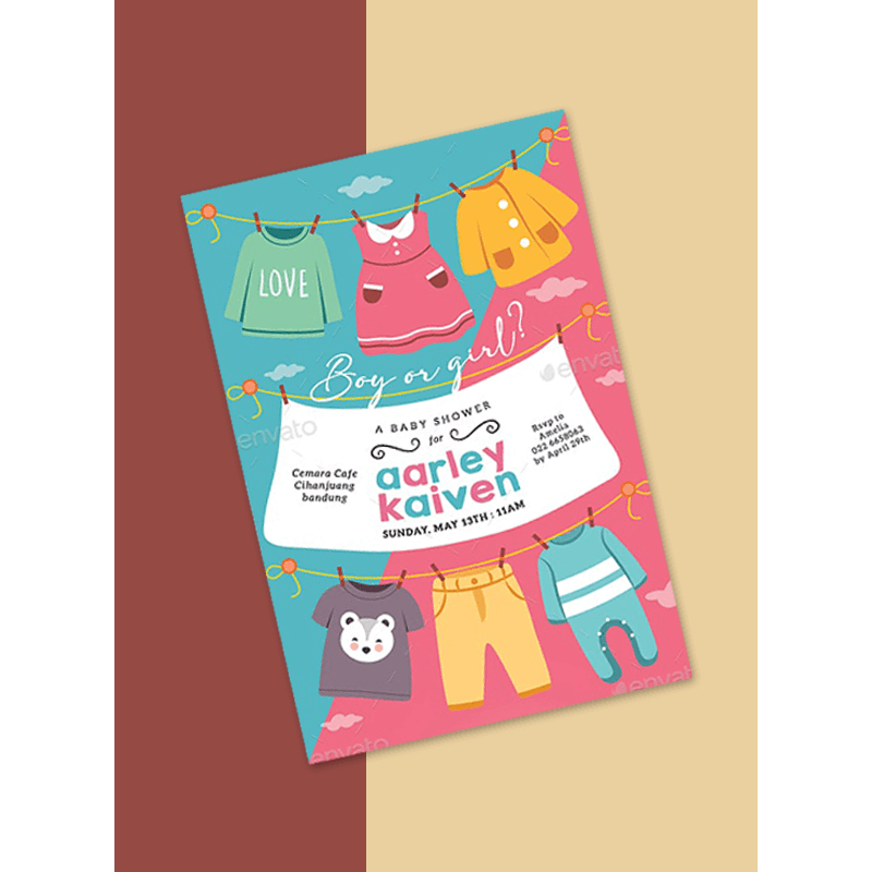 Gender Reveal Invitation Template 11