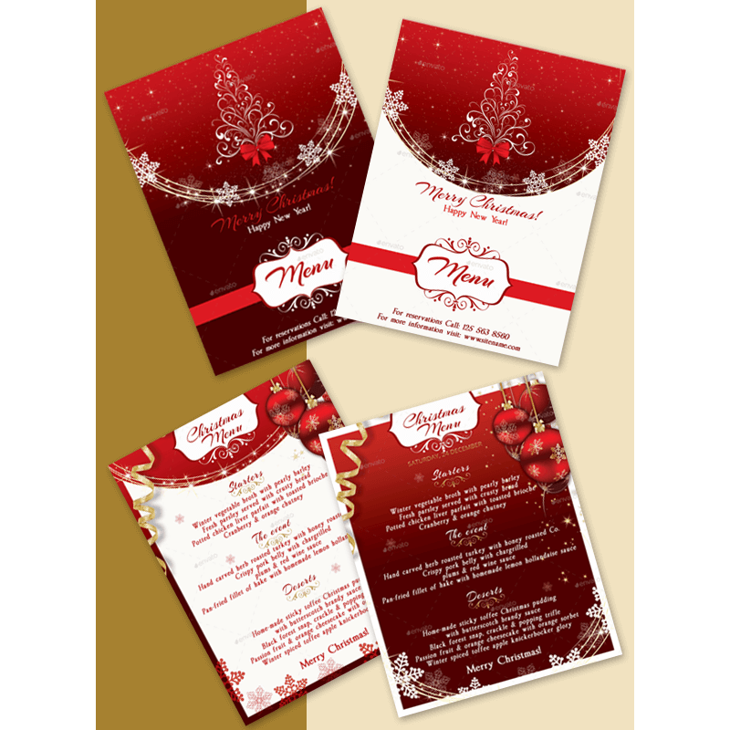 New Year Menu Template 07