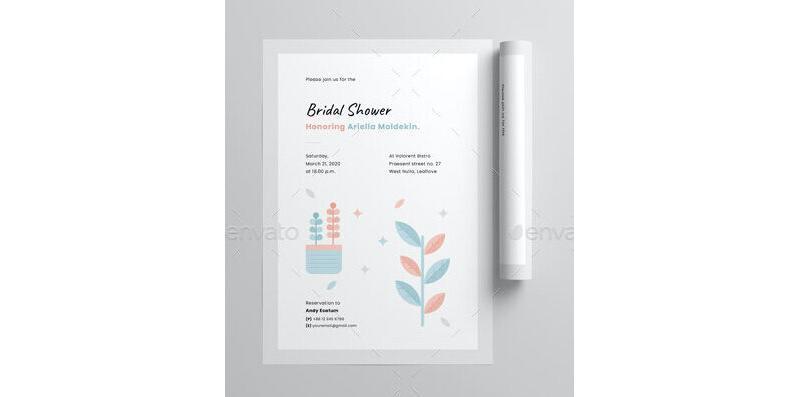 Bridal Shower Invitation Templates 01