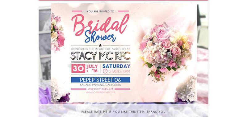 Bridal Shower Invitation Templates 03