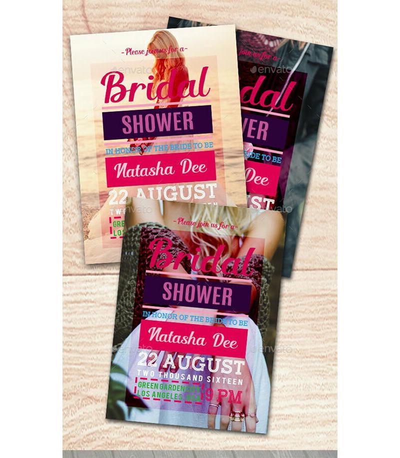 Bridal Shower Invitation Templates 06