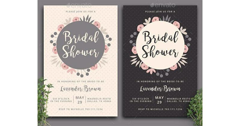Bridal Shower Invitation Templates 07