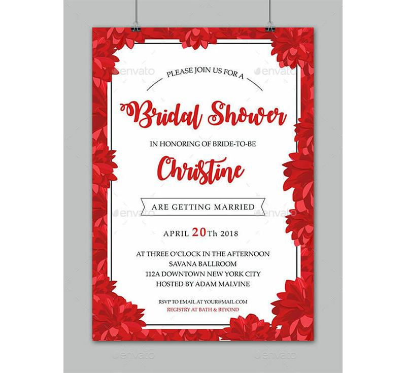 Bridal Shower Invitation Templates 08