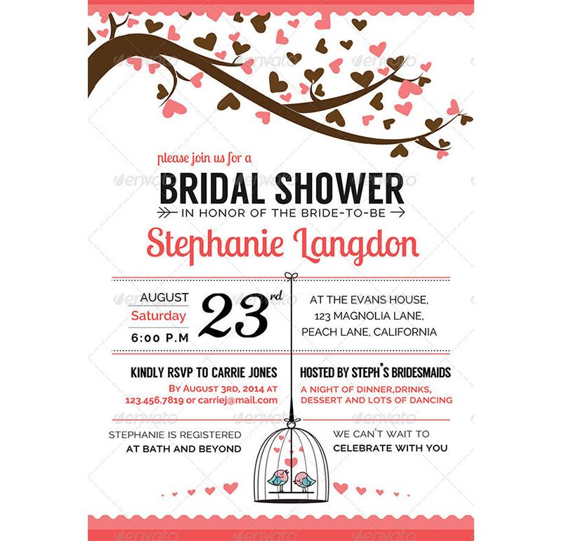Bridal Shower Invitation Templates 11