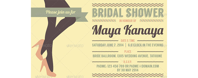 Bridal Shower Invitation Templates 16