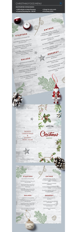 Christmas Menu Template 19