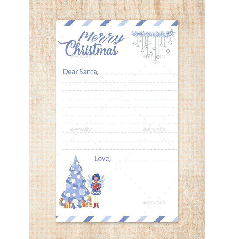 3-in-1 Letter to Santa Template