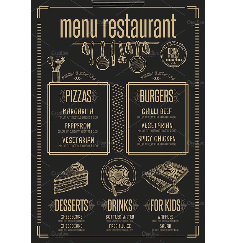 New Year Menu Template 04