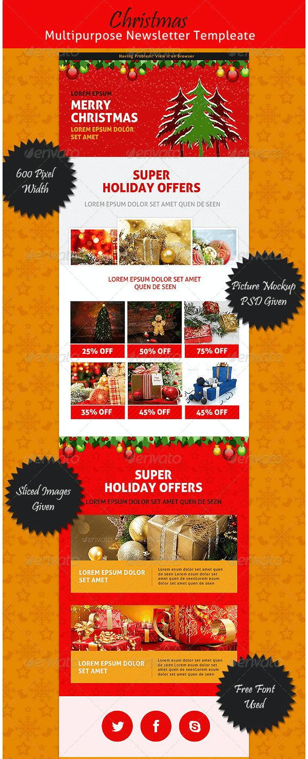 E-commerce Christmas Newsletter Template