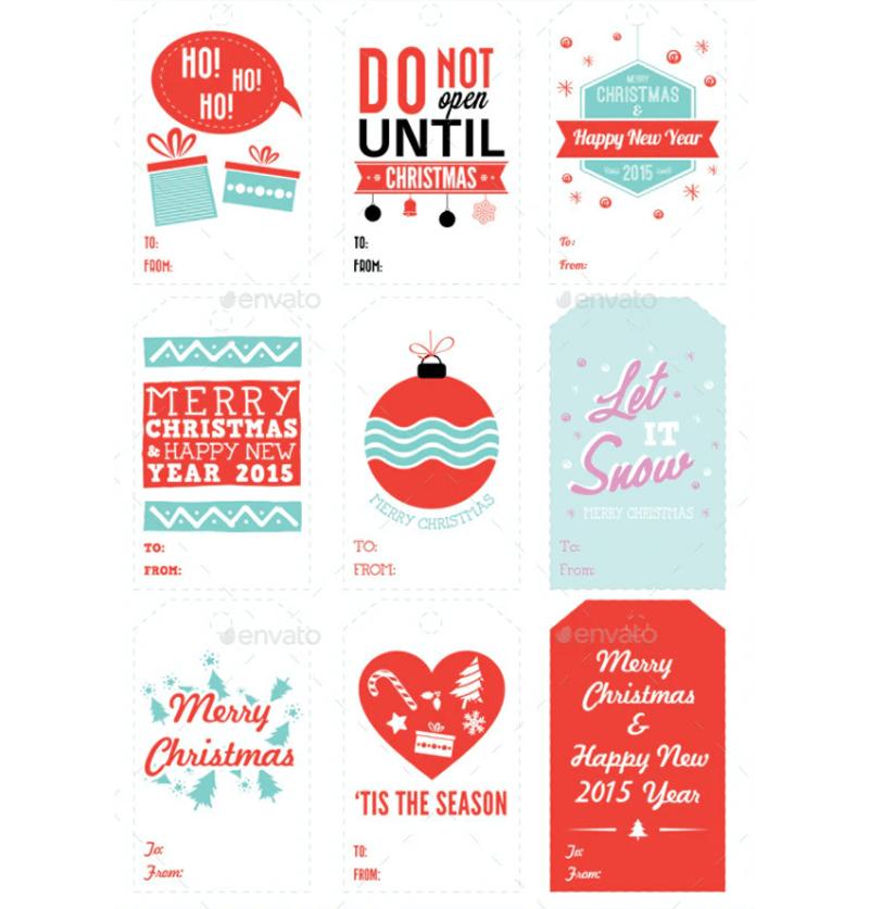 Christmas Gift Tag Template 15