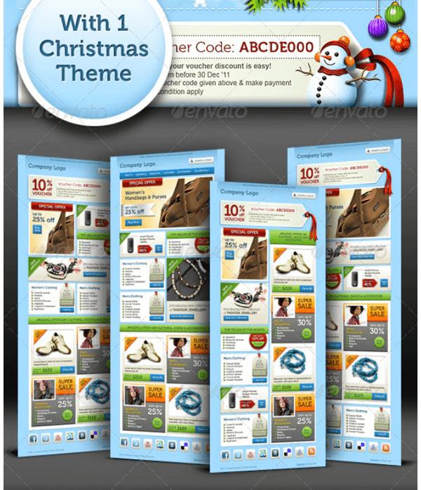 4-in-1 Christmas Newsletter Template